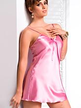 Camisa Noite Cetim Aria - Rosa