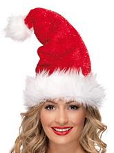 Mother Christmas Hat w/ Sparkles